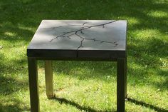 "Custom Made ""Timeless Branch"" Concrete Table"