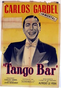 1935 film directed by John Reinhardt. the Buenos Aires Tango sensation Carlos Gardel. Vintage Prints, Vintage Posters, Ballet Posters, Bar, Classic Movie Posters, Journal Covers, Music Stuff, Vintage Advertisements, Movies To Watch