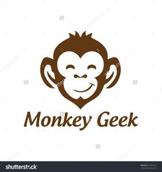 monkey geek , monkey vector logo design