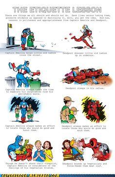 Captain America and DEADPOOL.