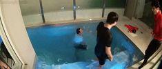 running man ep 188 yoo jae suk kicking lee kwang soo into the pool