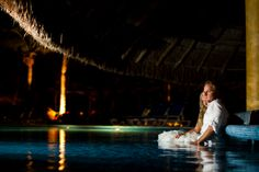 Mexico destination wedding pool photo during a fun trash the dress session. Pool Wedding, Destination Wedding, Lifestyle Photography, Wedding Photography, Pool Photo, Mexico, Weddings, Bride, Fun