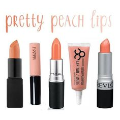 Latest Love Peach Lips ❤ liked on Polyvore featuring beauty products, makeup, lip makeup and beauty