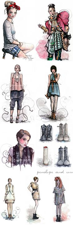 kathryn elyse  illustration inspiration for class