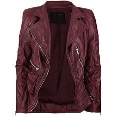 Leather biker jacket ($2,200) ❤ liked on Polyvore featuring outerwear, jackets, tops, coats, women, genuine leather jackets, quilted leather jacket, real leather jackets, leather rider jacket and quilted jacket