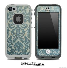 Green Laced Pattern Skin for the iPhone 4/4s or 5 LifeProof Case on Etsy, $9.99