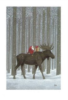 """Christmas Moose by Eva Melhuish.""  CHRISTMAS MOOOOOOOOOSE!  The 2 sweetest words in the English dictionary."