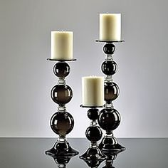 marble Pillar Candle Holders with glass globe Pillar Candle Holders, Candle Sconces, Pillar Candles, Candleholders, Black White Fashion, Black And White, White Style, Home Design Decor, House Design