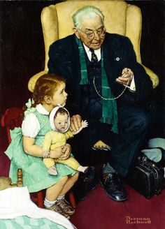 Norman Rockwell (1894-1978) - DOCTOR AND DOLL
