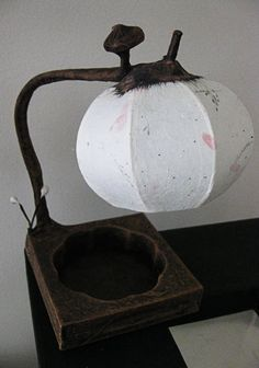 Hanji Small Desk Lamp Tear Drop Plz indicate a by HanjiLight,