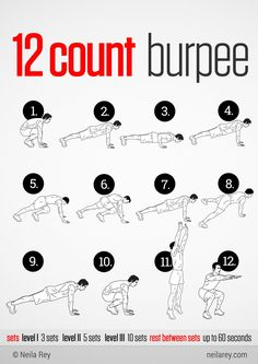 12-Count Burpee workout- this could be the devil but I'm intrigued.