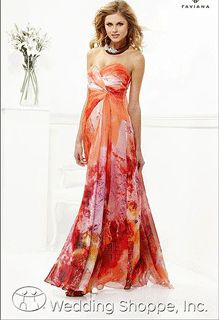 My Wedding Chat: What to Wear for Prom 2013: a Strapless Floral Print Prom Gown