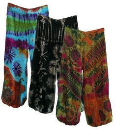 tie dyes harem pants by kathleen
