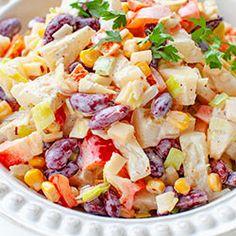 Sałatka meksykańska | Kwestia Smaku Salad Bar, Fruit Salad, Pasta Salad, Potato Salad, Catering, Nom Nom, Grilling, Lunch, Food And Drink