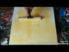 Abstract painting / Demo / How to paint abstract in acrylics / easy / - YouTube