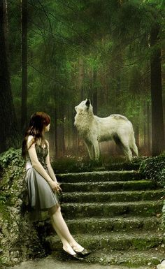 He sings to her as they wait for the full moon to rise so she may shed her skin and they can run as wolves.