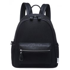 BURN IT UP BLACK MESH BACKPACK ($27) ❤ liked on Polyvore featuring bags, backpacks, padded backpack, faux-leather bags, fake bags, day pack backpack and pocket backpack