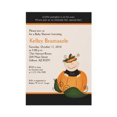 Pumpkin baby shower invite