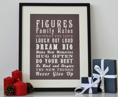 Personalised Family Rules Print - Vintage Style – JustMyType
