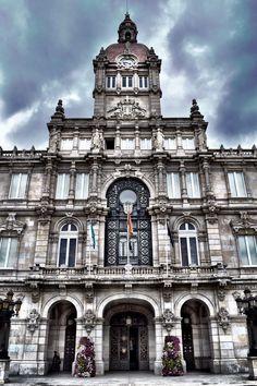 Fachada del Ayuntamiento de A Coruña (A Coruña - Spain)
