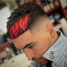 The top short hairstyles for men for the year 2018 are eye-catching and somewhat sophisticated. Today the short mens hairstyles have become particularly. Boys Dyed Hair, Dyed Curly Hair, Short Dyed Hair, Dyed Red Hair, Curly Hair Men, Cute Hair Colors, Hair Dye Colors, Cool Hair Color, Hair Colour Design