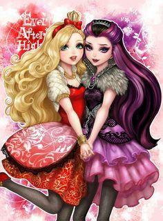 No fundo Apple e Raven são melhores amigas! Mesmo que a Rainha Má tente interferir em Ever After High Elas e suas amigas conseguem de tudo ao estarem juntas!