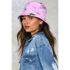 Nasty Gal Tropical Wavy Print Bucket Hat (363.665 VND) ❤ liked on Polyvore featuring accessories, hats, pink, pink bucket hat, short brim hat, fisherman hat, bucket hat and fishing hat