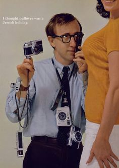 Woody Allen featured in Playboy special report on camera culture, 1966