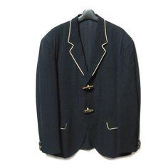 Yohji Yamamoto POUR HOMME ヨウジヤマモト プールオム '87AW 「M」 濃紺 トグルジャケット