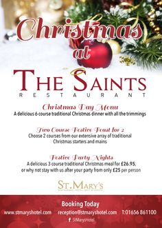St Mary's - Christmas poster