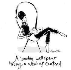A Sunday Well Spent Brings a Week of Content by Megan Hess