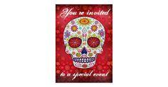 Sugar Skull Invitation   Zazzle