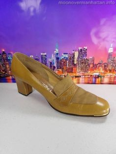 Womens shoes ROBINSON'S STANLEY PHILIPSON Vintage MAD MEN Loafer Pumps sz 8.5 S #StanleyPhilipson #Heels