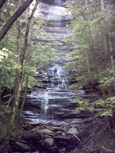 Byrdstown is the town I am from, these falls are in the woods around Dale Hollow Lake