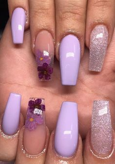 5 Different Acrylic nails ideas and How to Acrylic Nails Every day, the methods that people develop to flourish and care are growing rapidly. One of these is the acrylic nail fashion which has been on too many agenda lately. So, what is this acrylic nail? Purple Acrylic Nails, Purple Nail Art, Clear Acrylic Nails, Cute Acrylic Nails, Acrylic Nail Designs, Gel Nails, Nail Polish, Coffin Nails, Purple Nail Designs