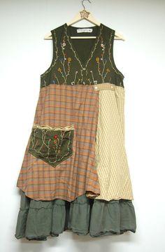 Medium Shabby Boho Chic Woodland Dress Mori by PrimitiveFringe