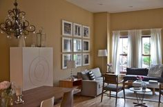 benjamin moore pearl harbour is one of the best warm paint colours for a north facing room with orange undertones