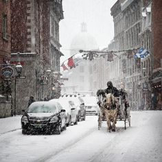 Perhaps another anniversary destination: Montreal.  I'd love to go there when it's snowing, and stay in a mountain chateau.
