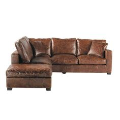 Tips That Help You Get The Best Leather Sofa Deal. Leather sofas and leather couch sets are available in a diversity of colors and styles. A leather couch is the ideal way to improve a space's design and th Faux Leather Couch, Leather Corner Sofa, Best Leather Sofa, Black Leather, Chesterfield Sofa Bed, Zweisitzer Sofa, Leather Sectional Sofas, Couches, Vintage Sofa