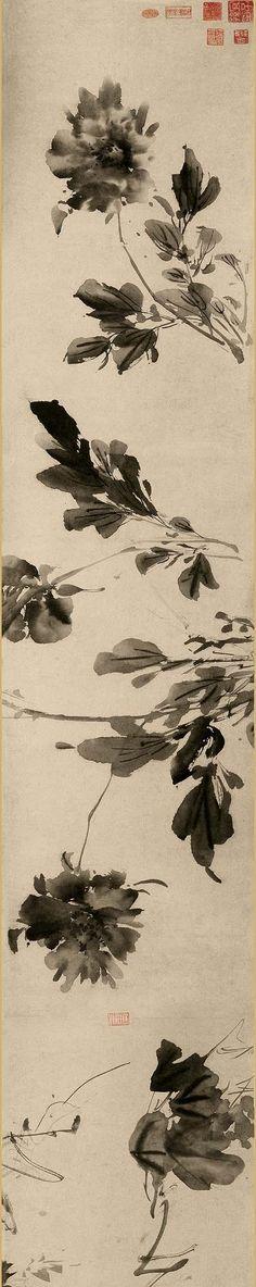 徐渭:孤傲佯狂的天才(下) Japanese Ink Painting, Sumi E Painting, Japan Painting, Chinese Painting, Japanese Art, Watercolor Paintings, Chinese Brush, Chinese Art, Asian Paints