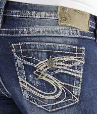 SILVER JEANS CHEAP Sale Suki Flap Surplus Denim Stretch Shorts ...