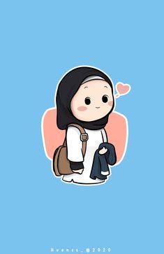 Cute Girl Wallpaper, Cute Wallpaper Backgrounds, Cute Cartoon Wallpapers, Cute Cartoon Drawings, Cartoon Art, Nurse Art, Islamic Cartoon, Applis Photo, Anime Muslim