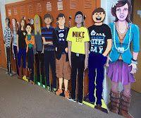 LifeSize Avatars (7-8th grade art project) - a new twist on the self portrait!