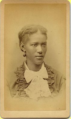 EXC ~1870s No ID CDV, Young Black Woman Has an Intense Side Stare
