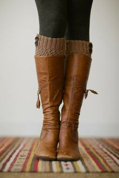 Brown Leather Fall Long Boots