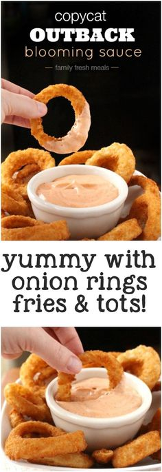 Outback Blooming Sauce Copycat Outback Blooming Sauce Recipe - - great on fries and onion rings too!Copycat Outback Blooming Sauce Recipe - - great on fries and onion rings too! Sauce Recipes, Cooking Recipes, Chicken Recipes, Pizza Recipes, Beef Recipes, Mexican Recipes, Grilling Recipes, Cheap Recipes, Side Dishes