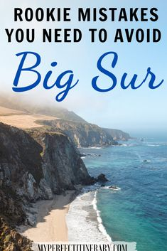 Traveling to Big Sur and want to plan your trip as best as possible?! Well my friend, I got you covered! In this guide I go over the 10 most common mistakes people make when traveling to Big Sur and how to avoid them! On top of that, I also provide tips on what to pack for Big Sur, how long to budget your trip for and best viewpoitns along the Big Sur! Ready to explore the best of California?! #california #bigsur #usatravel