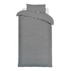 Marimekko Tasaraita Pussilakana 150x210cm, Musta/Valkoinen Marimekko, Design Shop, Shops, Duvet Covers, High Neck Dress, Dresses For Work, Black And White, Bedding, Fashion
