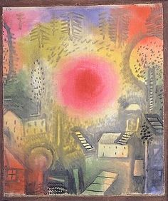 Paul Klee Sommerlandschaft (Summer Landscape), 1924 Oil on canvas, laid on cardboard and bordered with watercolor Art Works, Modern Art, Artistic Movement, Art Painting, Painting, Art, Abstract, German Art, Paul Klee