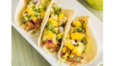 Chicken Mango Tacos www.theteelieblog.com Turn your next football tailgate into a fiesta with Clinton Kelly's Chicken Mango Tacos. #SuperBowl50